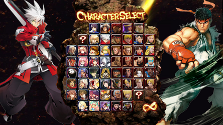 BlazBlue vs Street Fighter Character Select by TheGamerLover