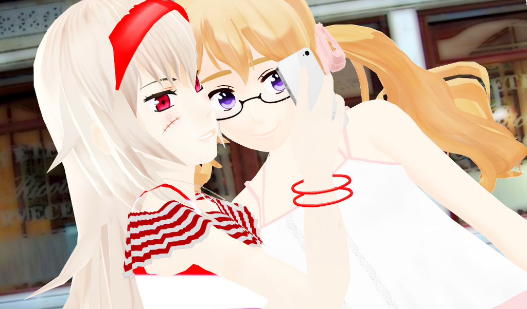 [mmd x aph] tmw u take a photo with ur gf by Rovinare