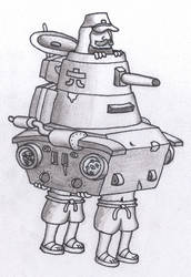 Metal Slug 3 - Japanese Tank by CDCagent