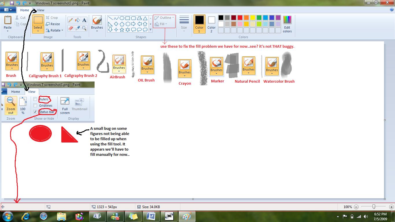Windows 7. Microsoft paint? By issun-mini on deviantart.