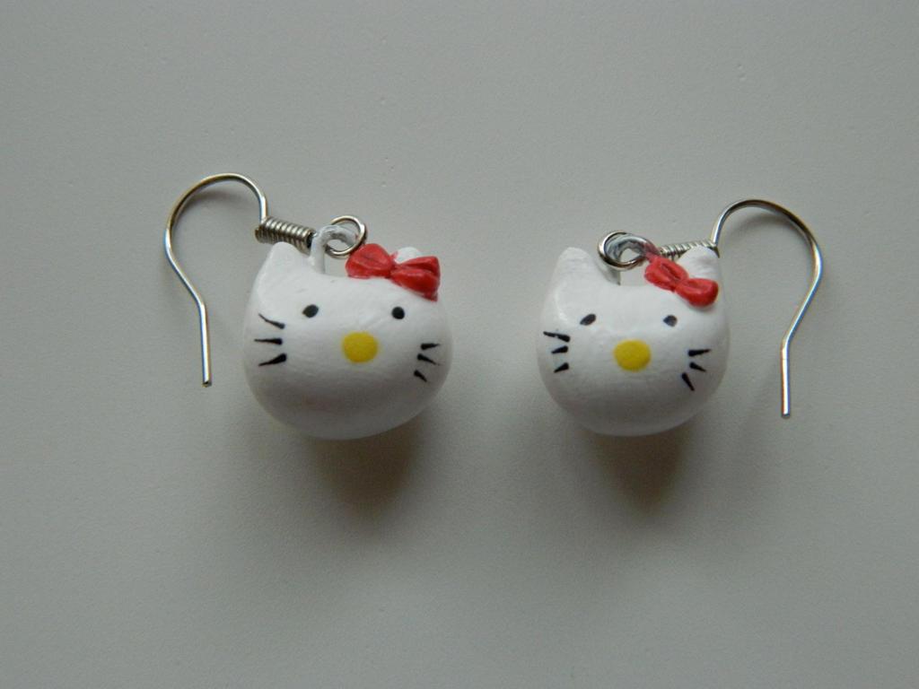 Hello Kitty Polymer Clay Earrings by SagwaLii on DeviantArt
