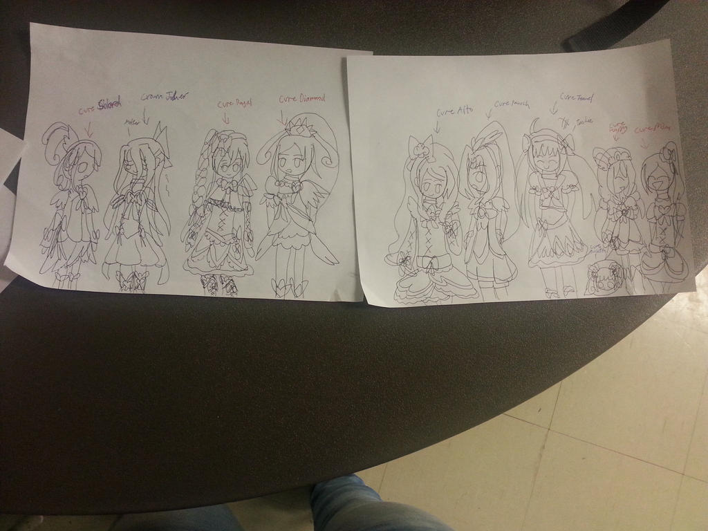 Shuffle Precure and their mothers! by SamaHafiz2000