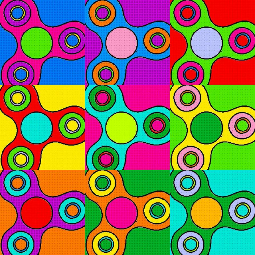 Fidget Spinner Pop Art by SamaHafiz2000