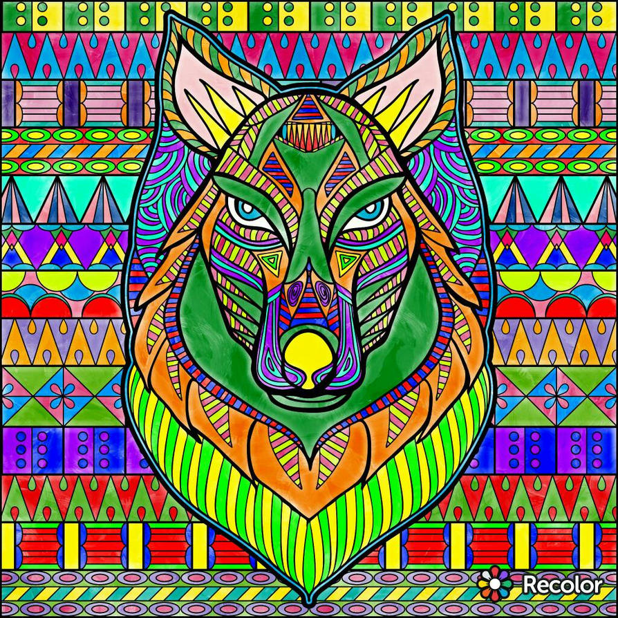 Colorful Wolf by SamaHafiz2000