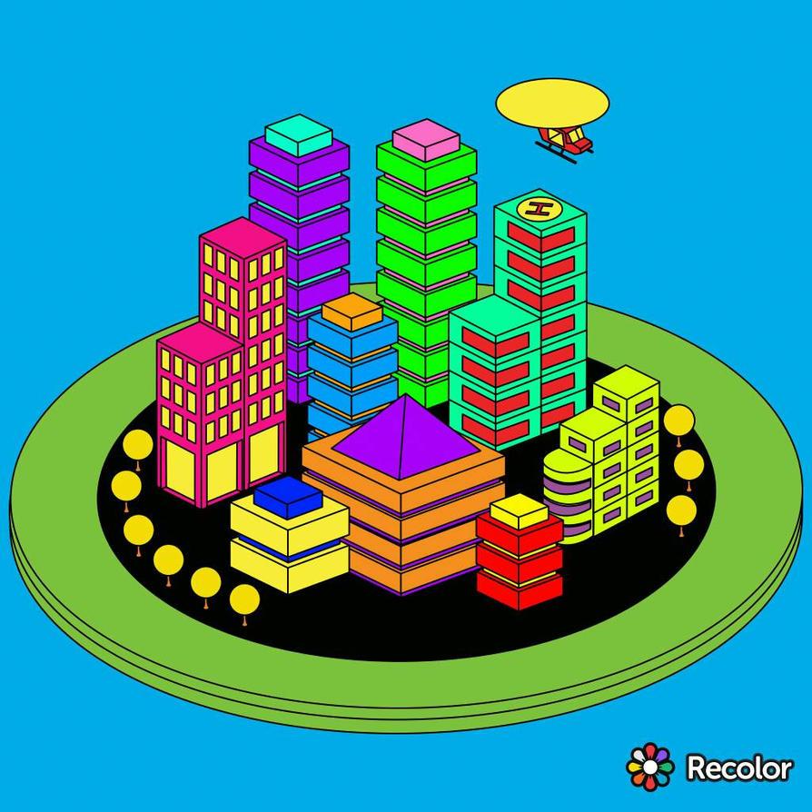 Colorful City by SamaHafiz2000