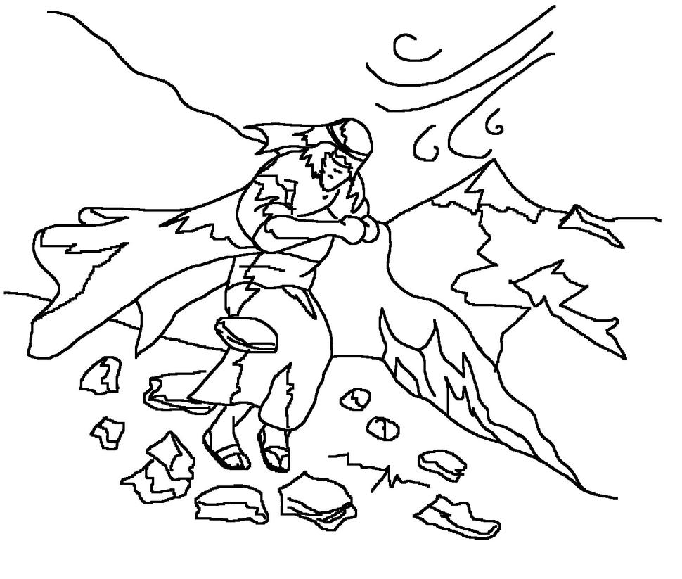 Elijah On Mount Sinai Colouring Sheet by maxarion on DeviantArt