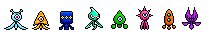 Sonic Colors Wisp Sprites by Xugggys