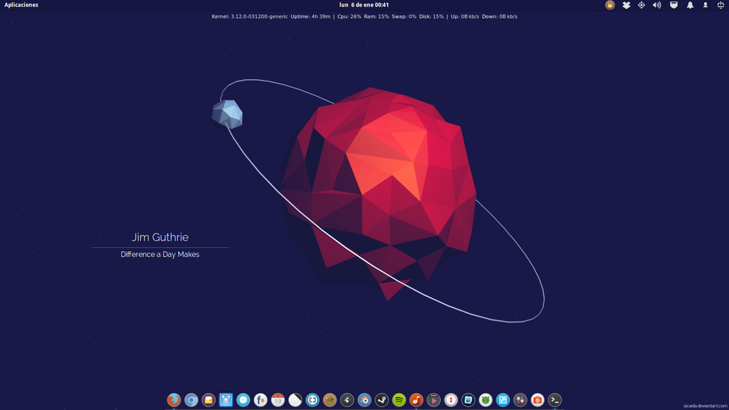 Elementary OS - January 2014 by GianfrancoUC