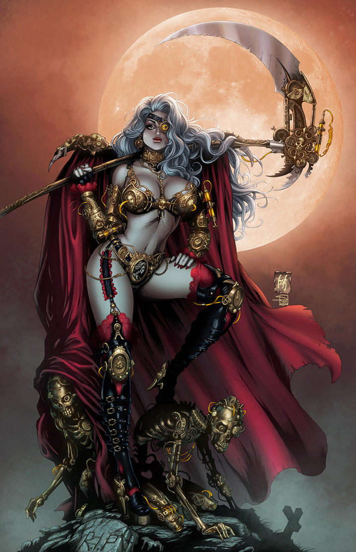 Lady Death color by Kromespawn