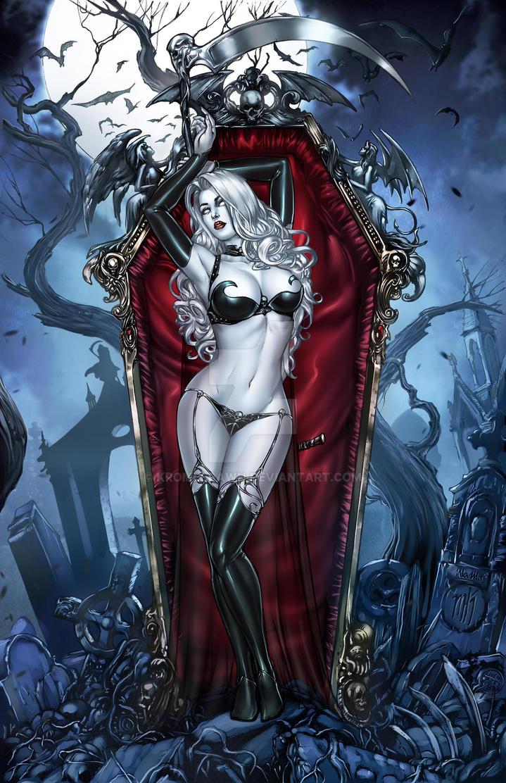 Lady Death by Kromespawn