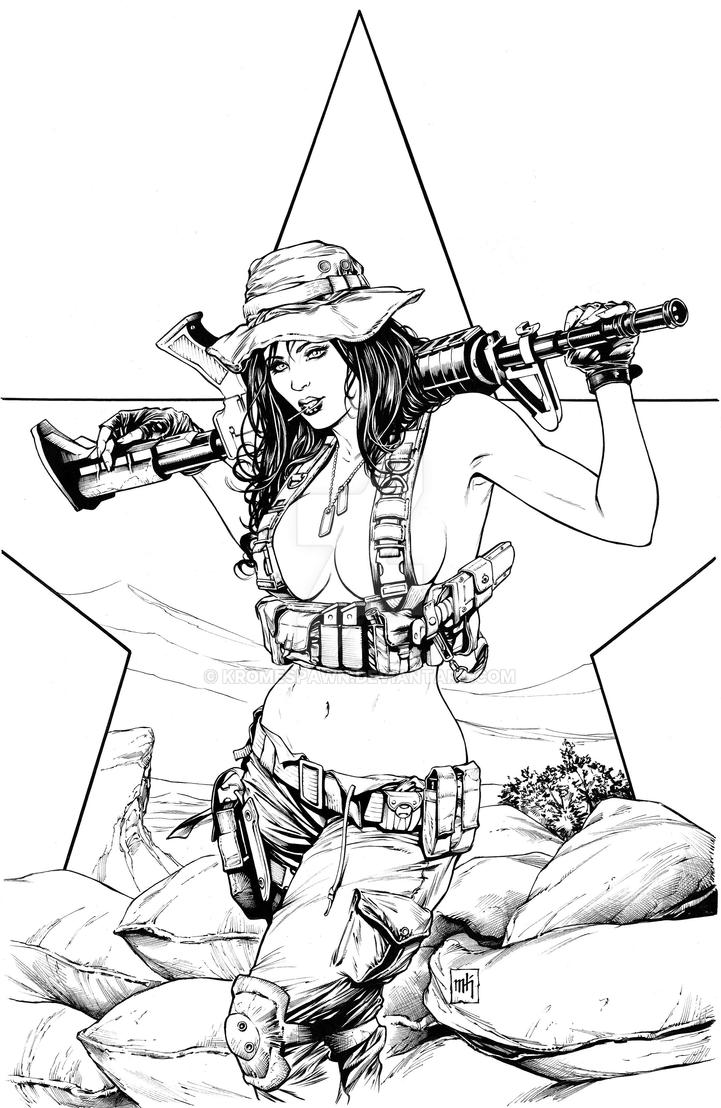 Navy Seal Pinup by Kromespawn