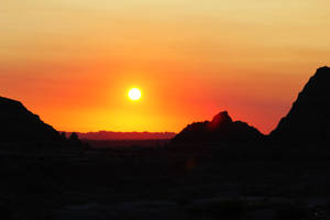 Sunset Over Badlands 1 by Bokotsu