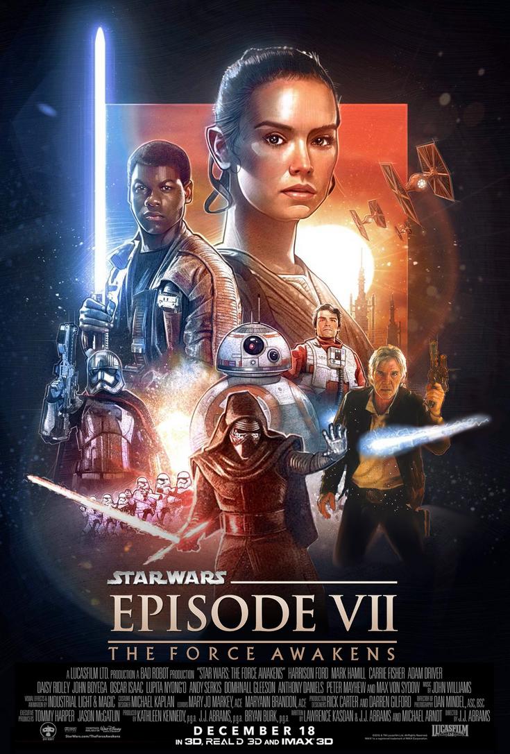 star wars force awakens fan poster by mevans2574 on deviantart