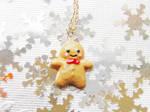 Kawaii Gingerbread Necklace
