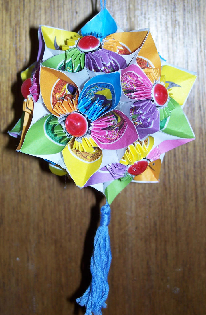 Origami Flower Ball With Beads By Razorcrow On Deviantart