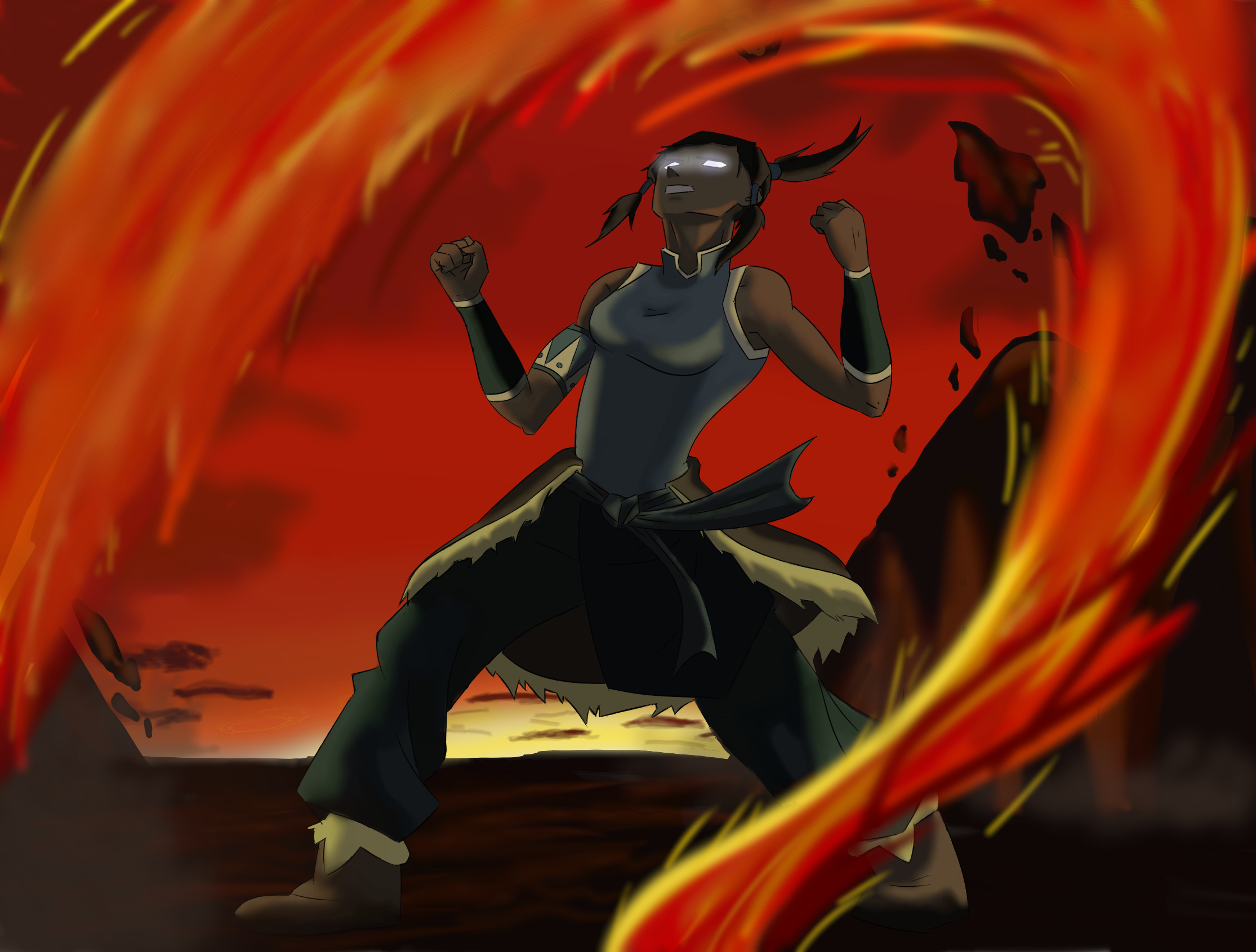 Korra - Avatar State by TreesONature777 on DeviantArt