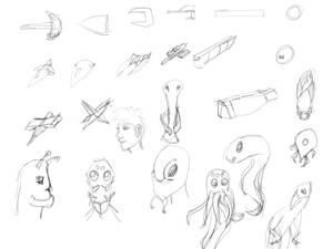Space Themed doodles