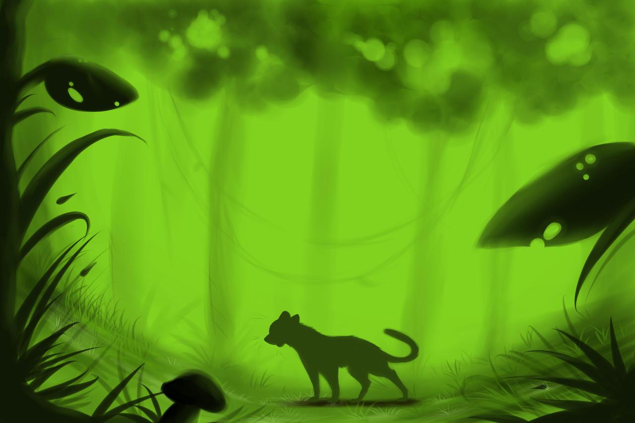 Jungle Background Practice by LemonadeLesley on DeviantArt