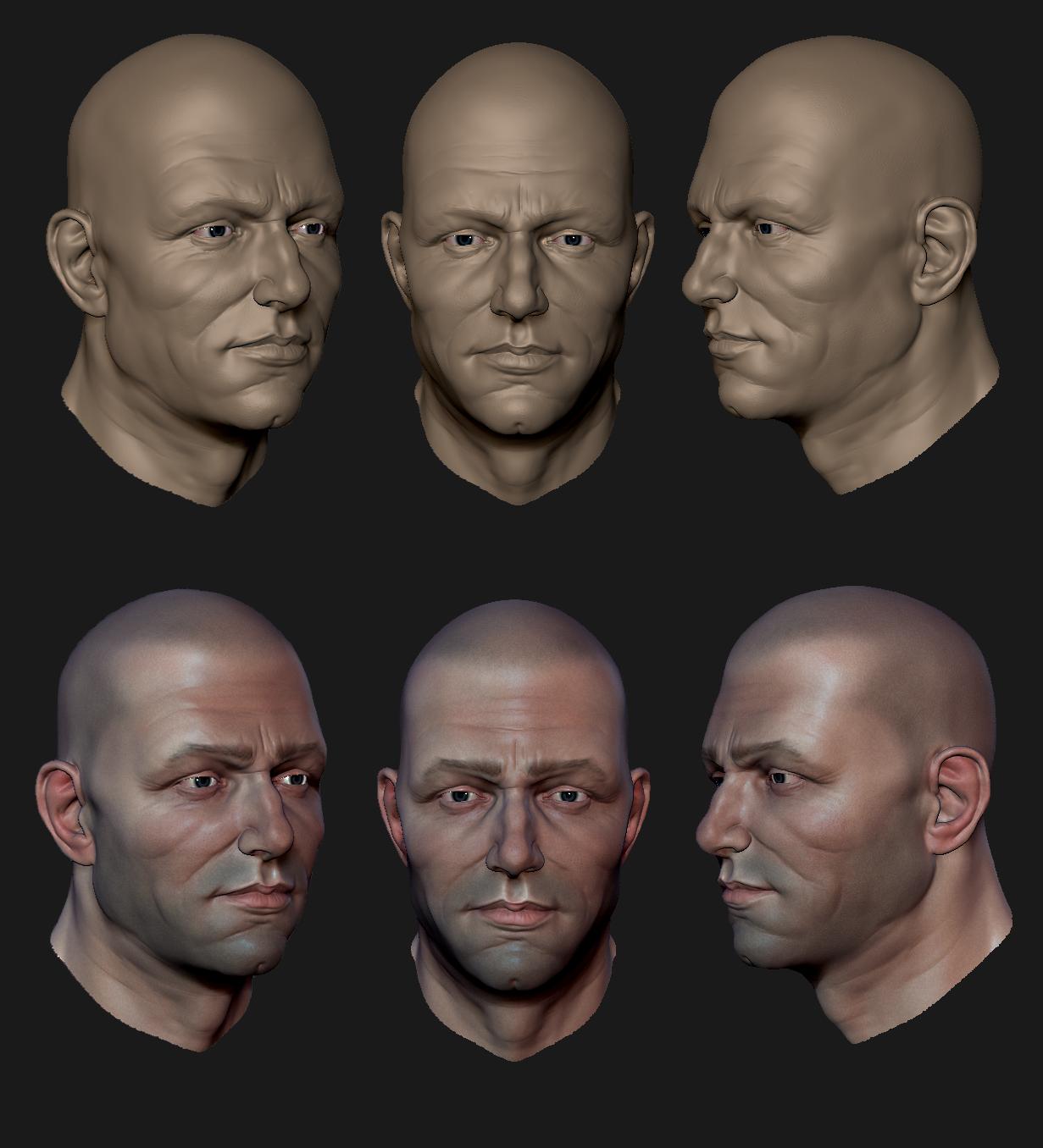 Male Head WIP by MrNinjutsu