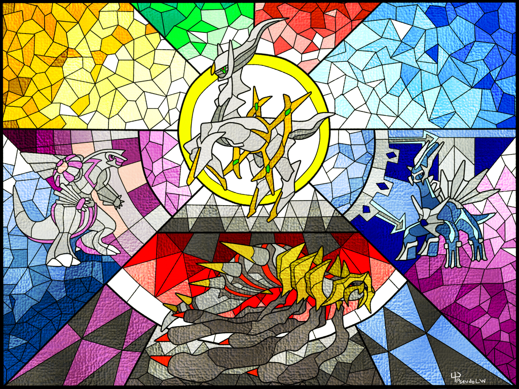 The Creation Quartet: Stained Glass Mosaic