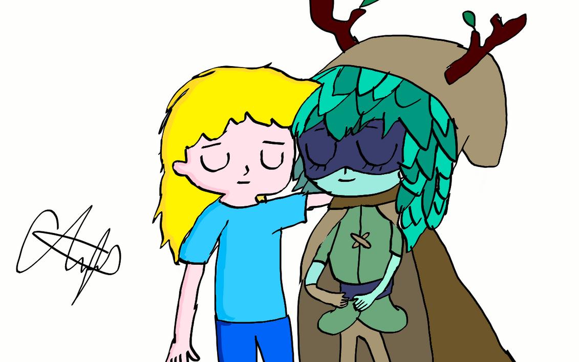 Finn and Huntress Wizard by SizzleGirlYT