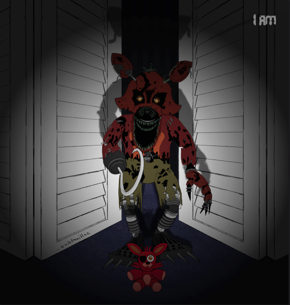 Fnaf 4 n foxy and foxy plushie by quintanillac on deviantart
