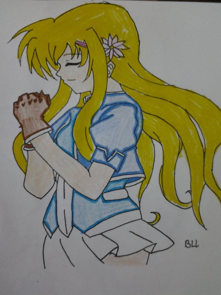 Mana Irving Praying Colored By Springflowergirl90- by Kairi-The-Siren