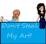 Don't Steal My Art stamp by BlossomCherrie