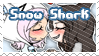 SnowShark Shipping Stamp by BlossomCherrie
