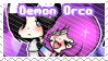 Demon Orca Ship Stamp by BlossomCherrie