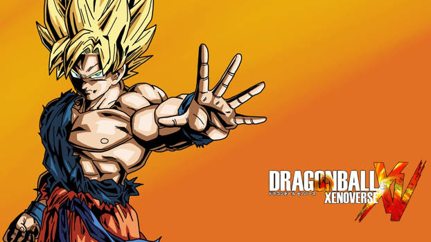 Ssj Goku Xenoverse Wallpaper V2  Orange  By Eymsmi