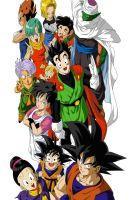 Goku And Co  By Alexadi95-d4zu7o6