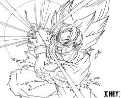 Goku Ssj Kamehameha   Lineart  By Cheygipe-d4xczvf