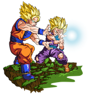 Onda Vital Padre E Hijo By Bardocksonic-d6hogew
