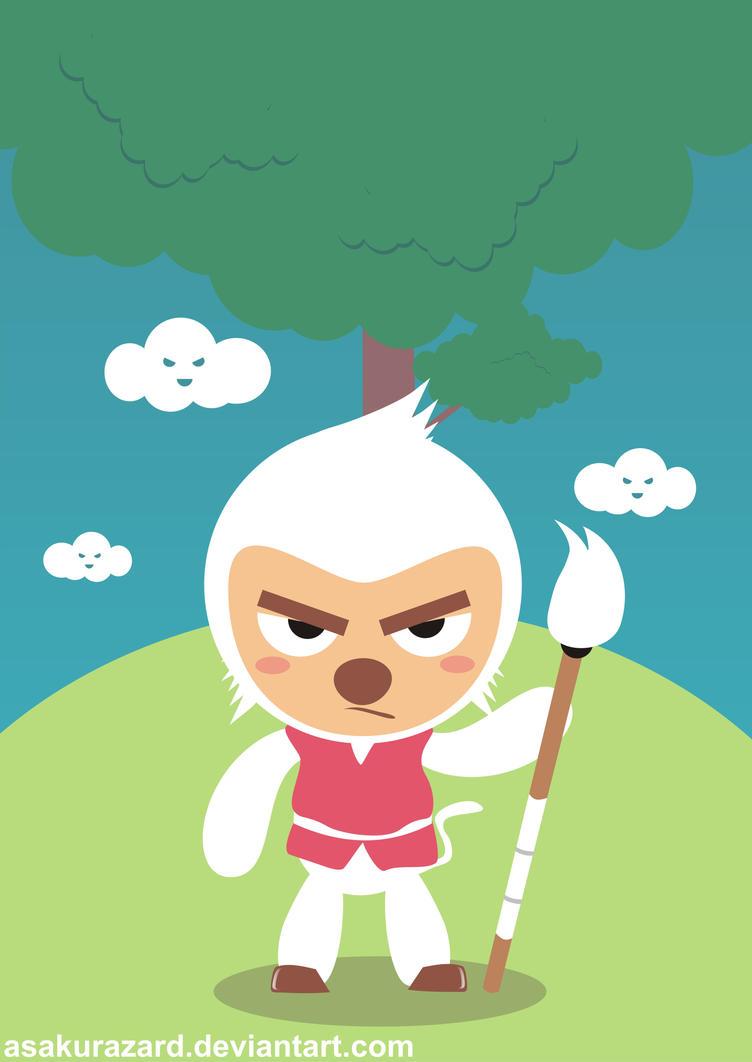Kai the Drawer Monkey by AsakuraZard