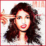 Mia splatter portrait by O-Nobody-O