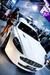 White Aston Martin DB9