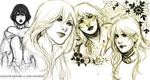 Ama doodles by Arcuu