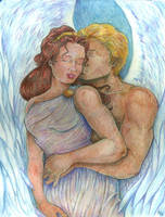 Eros and Psyche by TheBlueRealm