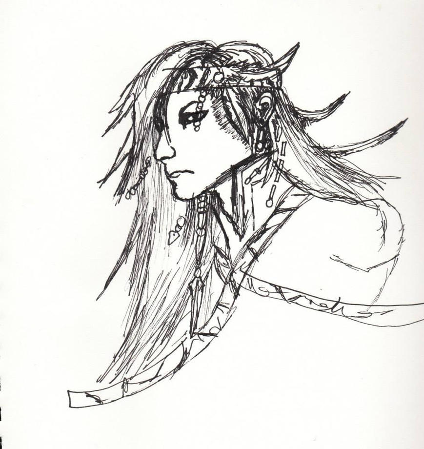 Caius Ballad Rough Portrait Sketch by VeiledSkull