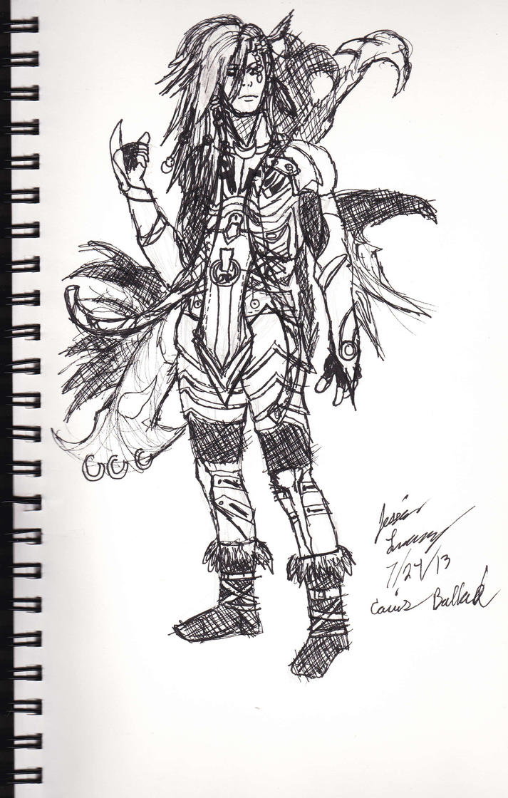 Caius Ballad Rough Sketch 2 by VeiledSkull
