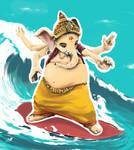 Nice ride, Mister Ganesha