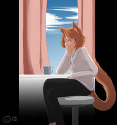 Kat by the window