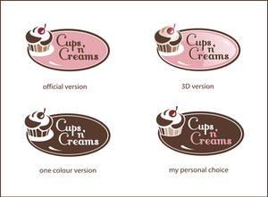 Cups n' Creams logo