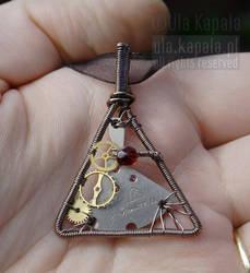 Steampunk Illuminati Pendant by ukapala