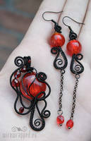 Black and red gothic set by ukapala