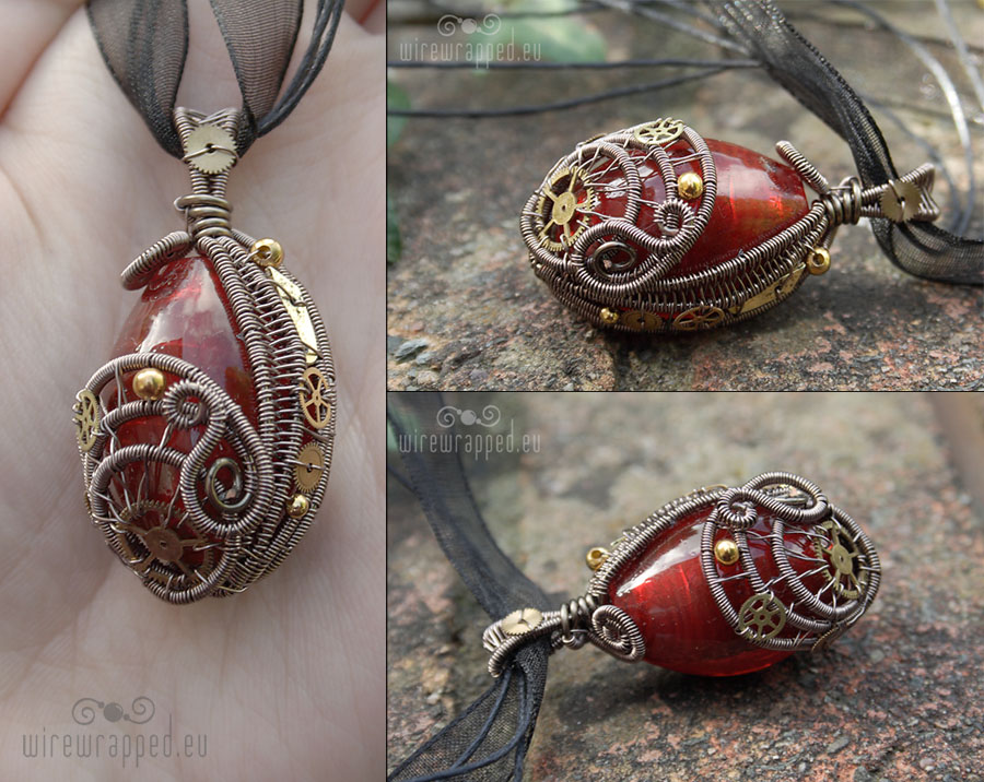 Red egg steampunk pendant by ukapala on deviantart red egg steampunk pendant by ukapala mozeypictures Gallery