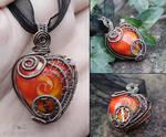 Swirly clockwork heart