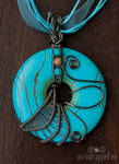 Turquoise fairy pendant