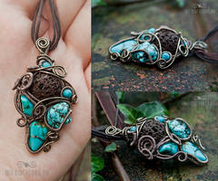 Lava and turquoise freeform by ukapala